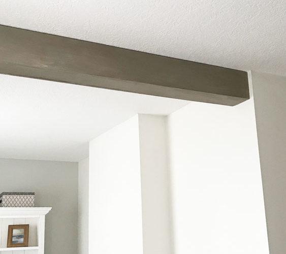 DIY Ceiling Beam-One Room Challenge Week 3`