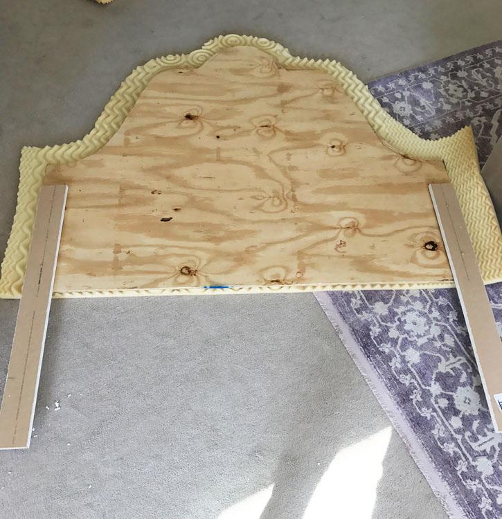 DIY Headboard Step 1