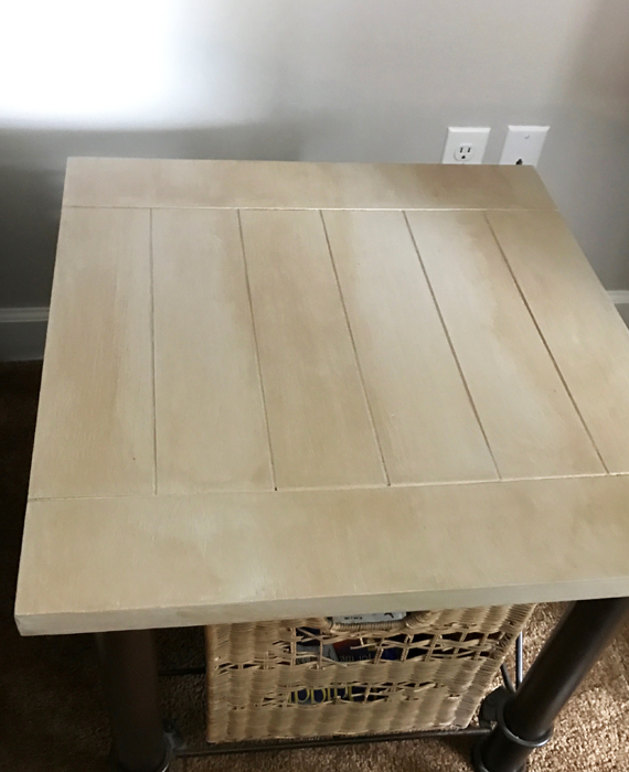 Gray Weathered Furniture Makeover