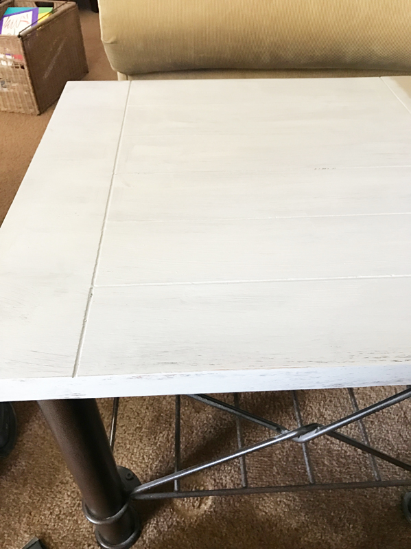 How to do a gray weathered finish first step