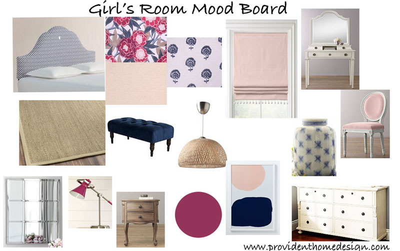 ORC Girls Bedroom Moodboard