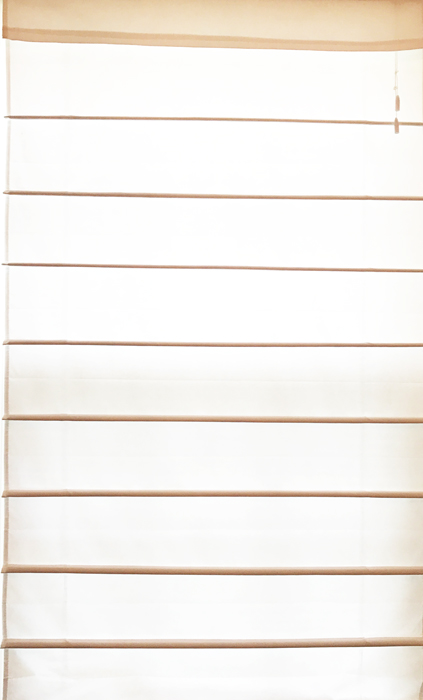Roman Shades Plain White