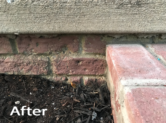 DIY Brick Step After with Paint