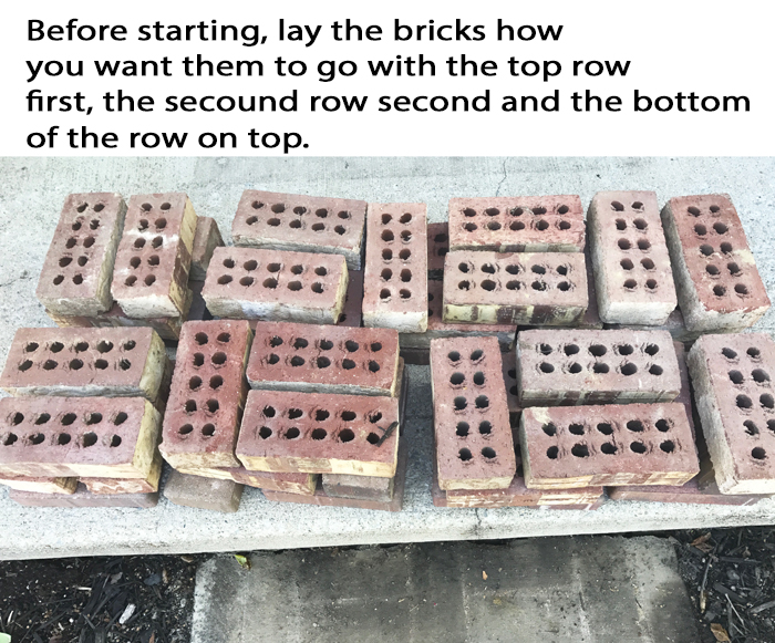 DIY Brick Step Arrange Them