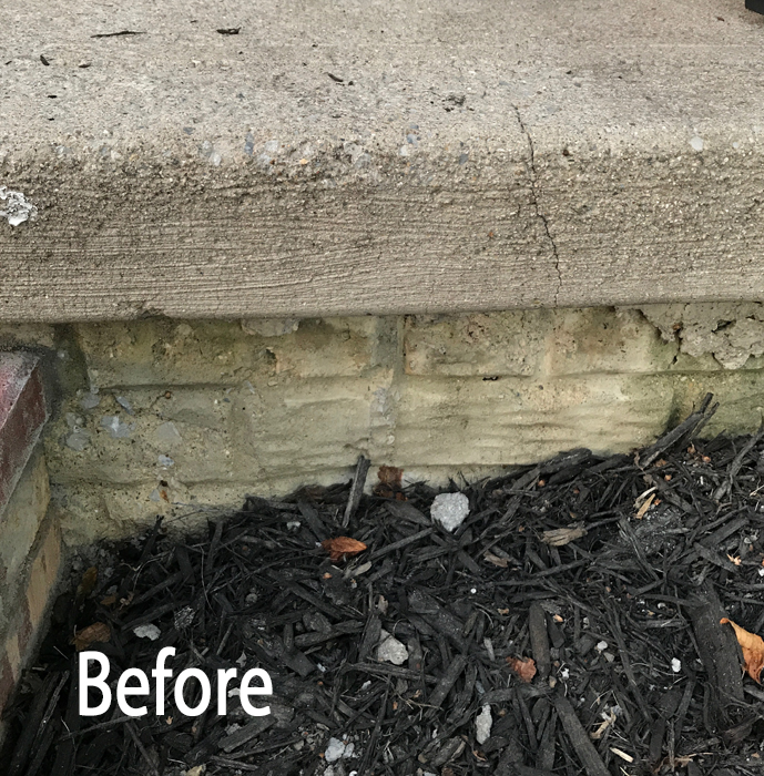 DIY Brick Step Before