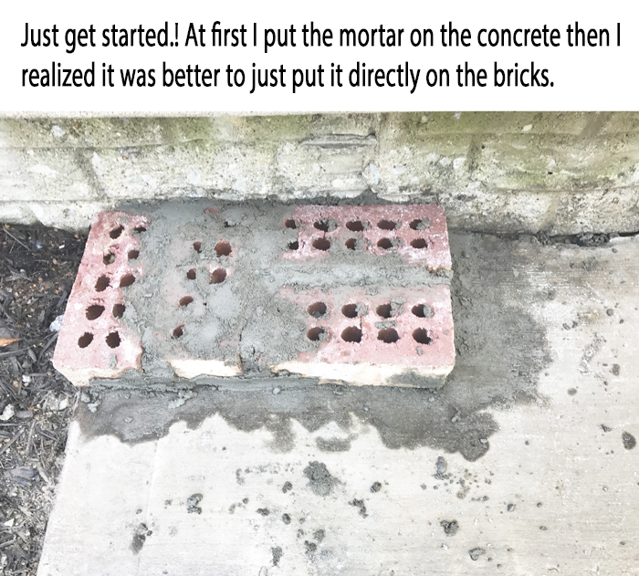 DIY Brick Step Get Started