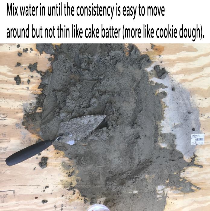 DIY Brick Step How to mix mortar
