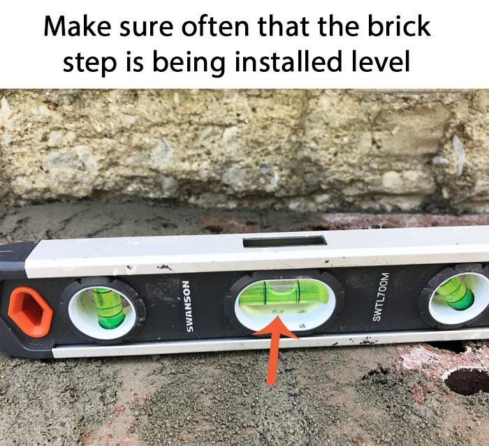 DIY Brick Step Keep it Level