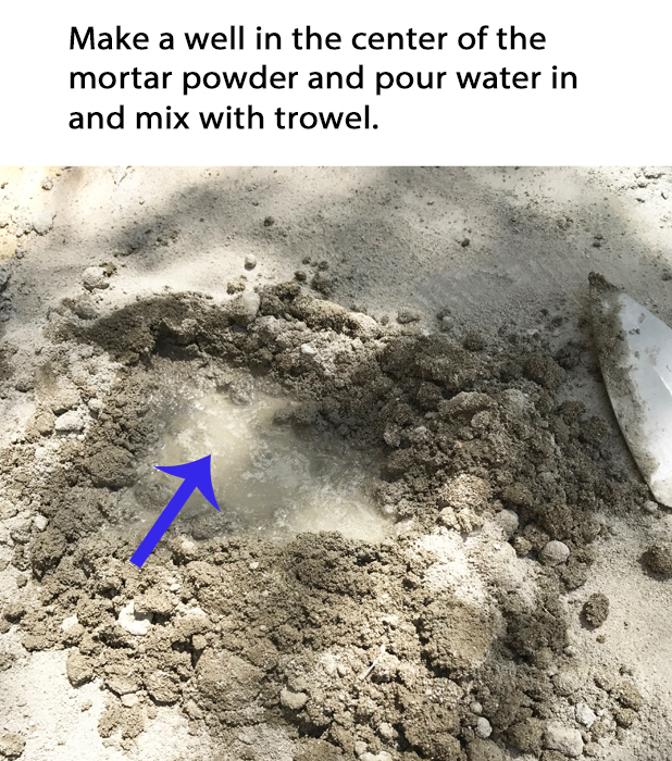 DIY Brick Step Mix Mortar