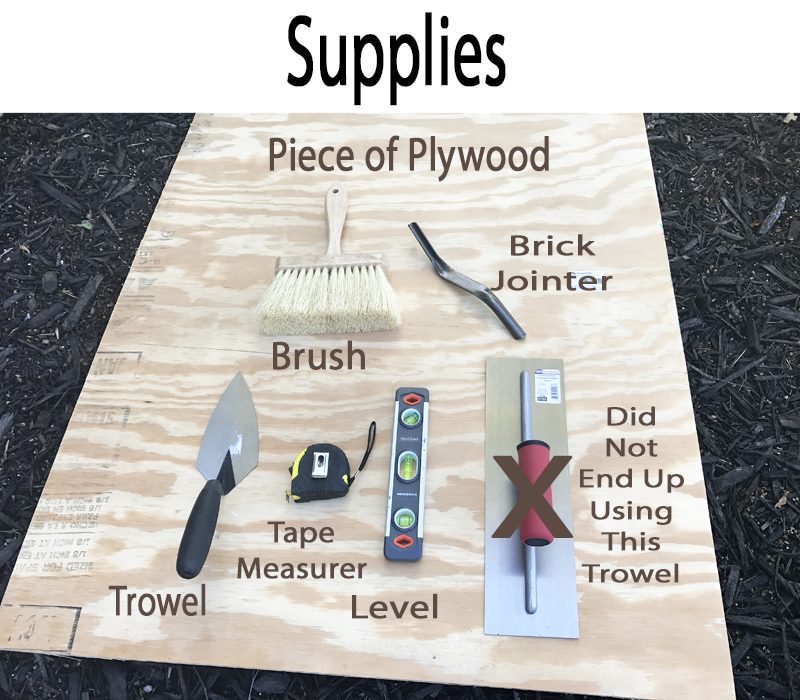 DIY Brick Step Supplies