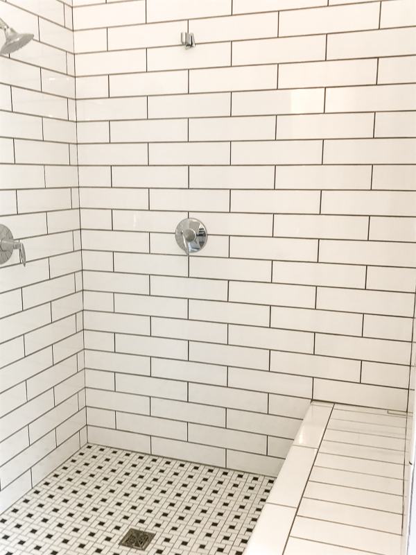 Black and White Tile Shower