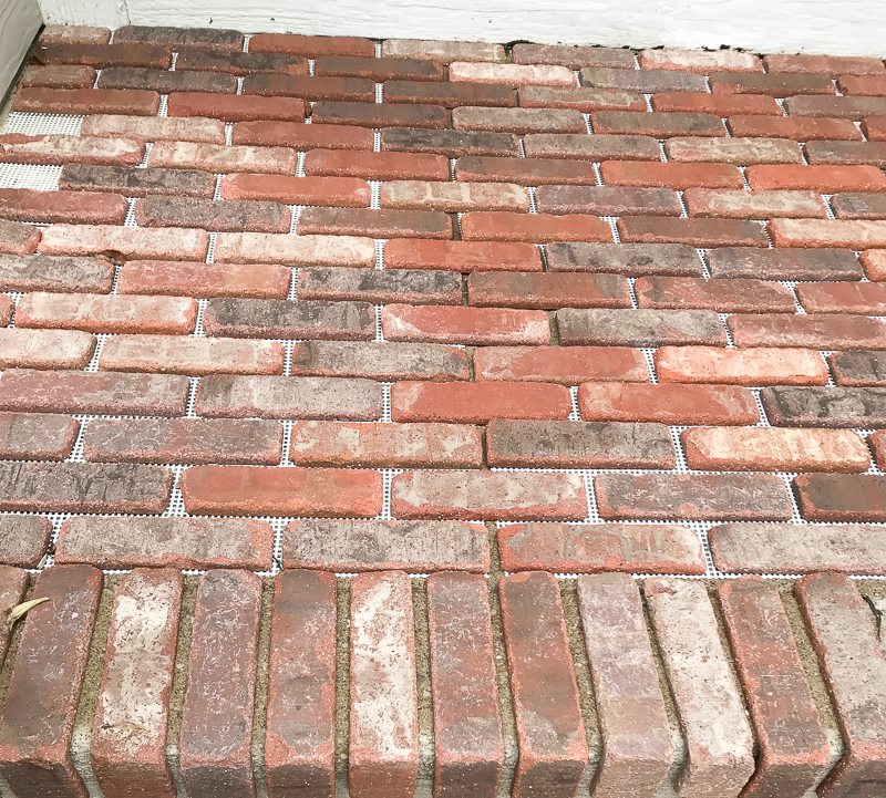 How to add brick to your porch 1