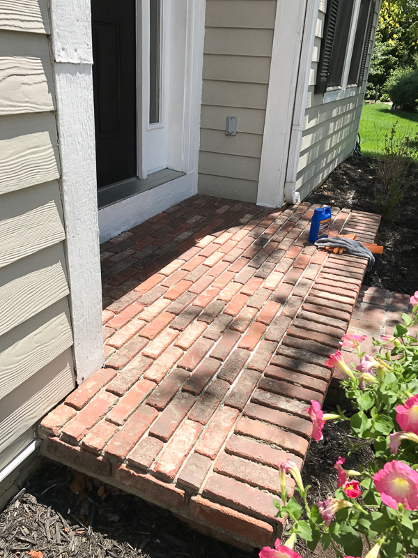 How to add brick to your porch 11