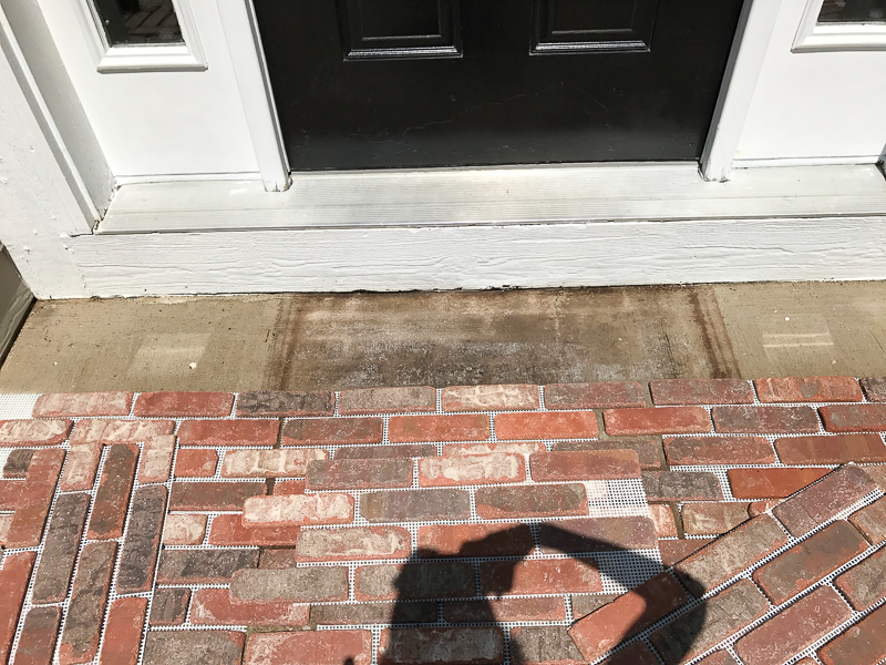 How to add brick to your porch 8