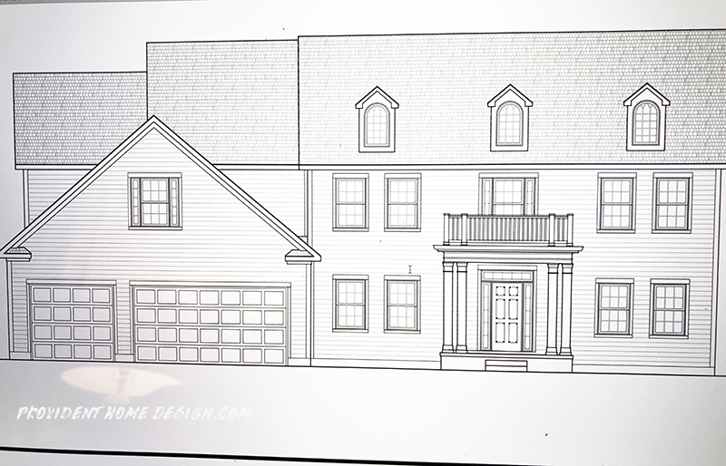 The exterior drawing of the house we are building for Exterior house drawing