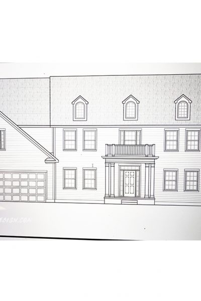 The Exterior Drawing of the House we are Building