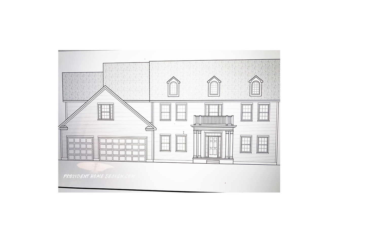 The Exterior Drawing Of House We Are Building Provident Home Design